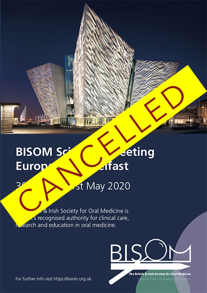 Belfast meeting 2020 Cancelled
